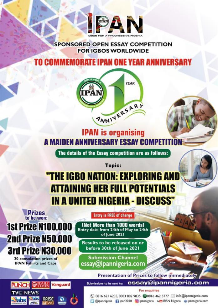 President Of Igbos For A Progressive Nigeria 'IPAN' Onuzulike, Reveals Why Group Is Celebrating Anniversary