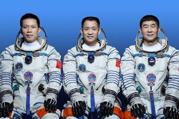 BREAKING: China Launches 3 Astronauts To Construct Station In Space [PHOTO]