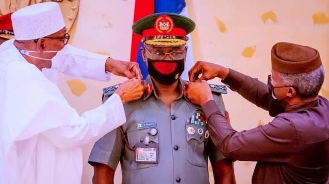 Yahaya Farouk Decorated With New Rank As Chief of Army Staff