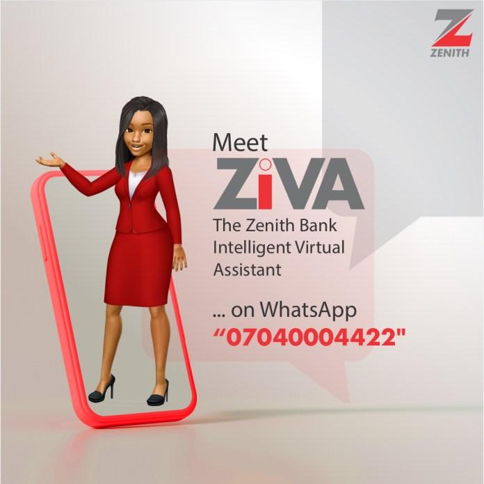 BREAKING: Zenith Bank Launches Ziva Whatsapp Banking