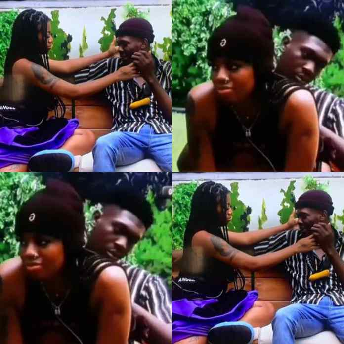 #BBNaija Sammie And Angel Fight Dirty After She Kissed New Housemate KayVee