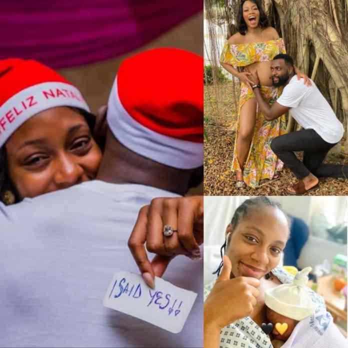 Jubilation As Ex-#BBNaija Housemates Khafi And Gedoni Welcome Baby Boy [PHOTO]