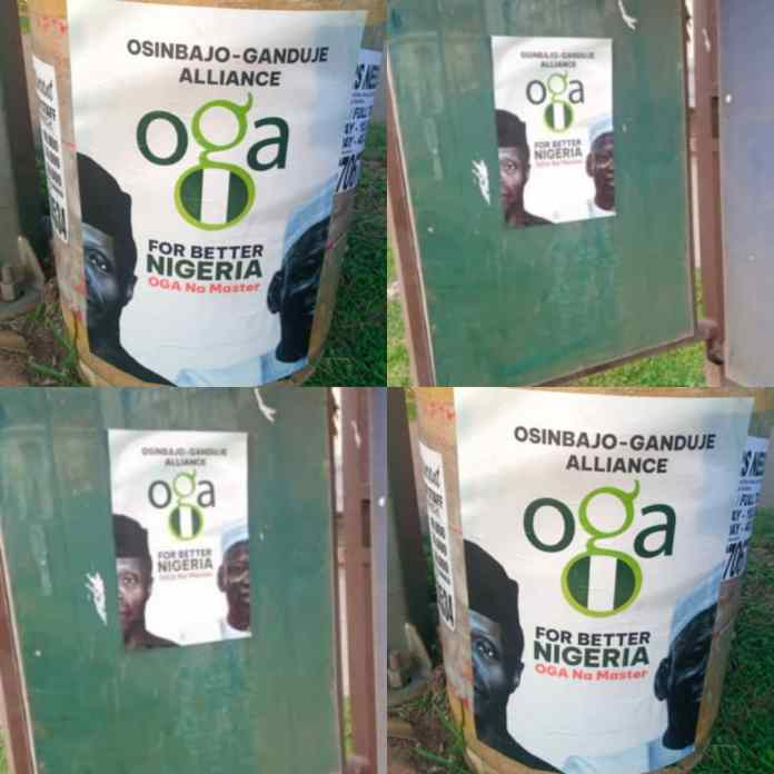 BREAKING: Gov Ganduje And VP Osinbajo Presidential Campaign Posters Surfaced [PHOTOS]