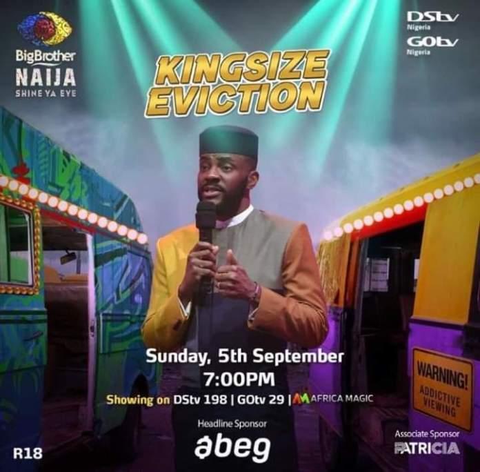 Reactions As #BBNaija Organizers Says Sunday Live Show Will Be #KingsizeEviction
