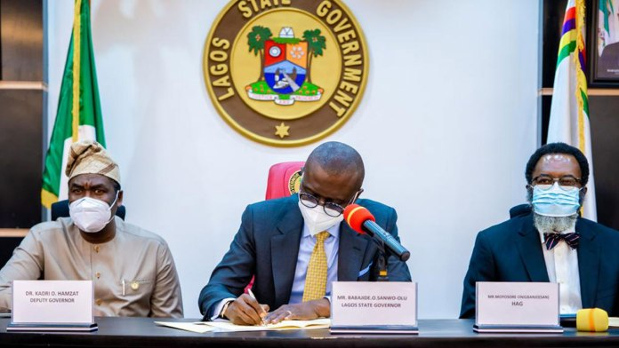 HAPPENING NOW!!! Sanwo-Olu Dares Buhari, Signs VAT Bill Into Law In Lagos