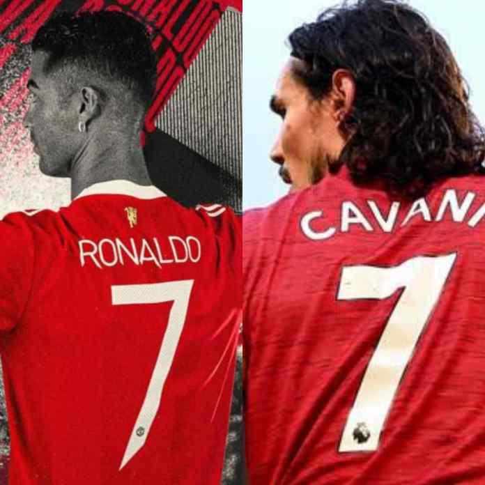 BREAKING: CR7 Jersey Number Confirmed By Man United As Cavani Wears No 21