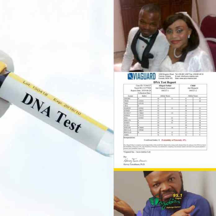 SHAME!!! Nedu Of WazobiaFm Exposes Estranged wife's Bigamy With A DNA Report [PHOTOS]