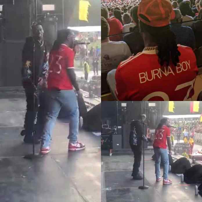 Paul Pogba Dace On Stage With Burna Boy After 4-1 Victory Over Newcastle [VIDEO]