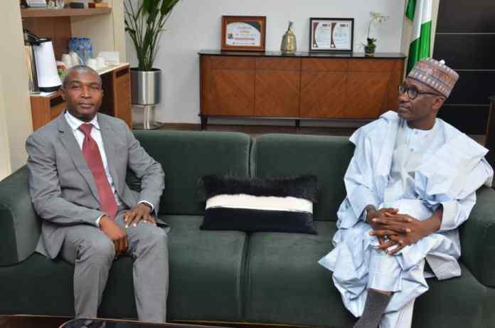 PHOTO NEWS: New NLNG CEO Pays Courtesy Visit To GMD Mallam Mele Kyari
