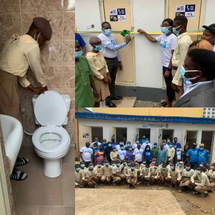 JCI Nigeria Ikeja Donates Six Modern Toilets To School In Lagos [PHOTOS]