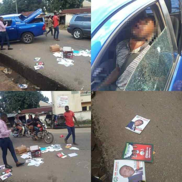 BREAKING: 24 Hours After Killing Dr Ckike Akunyil, Anambra Rep Member Escape Assassination As Gunmen Kill Driver [PHOTOS]