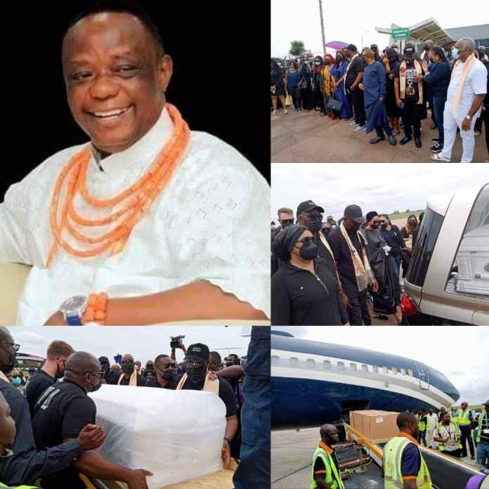 Benin City At Standstill As Remains Of Captain Okunbo Arrive For Burial [PHOTOS]
