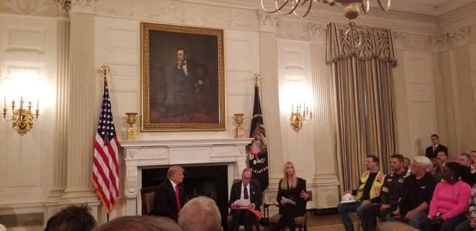 Fulton County Commissioner Liz Hausmann meets with Donald Trump about job creation