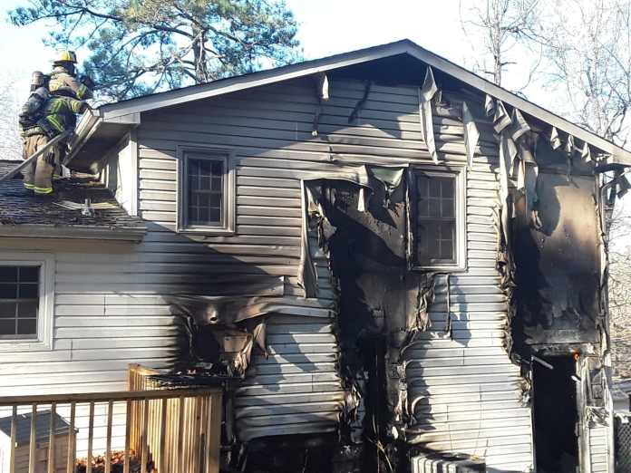 Dog killed in Sunday house fire