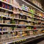 supermarket, shelf, blur