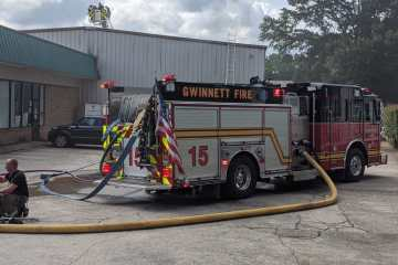 Dog rescued from thrift store fire