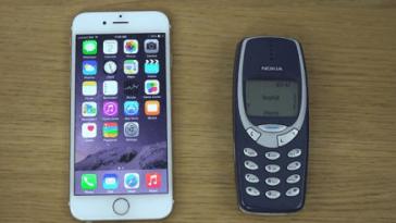 iphone 6 x Nokia 3310