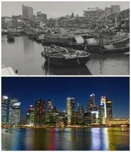 Şehirlerin eski yeni halleri
