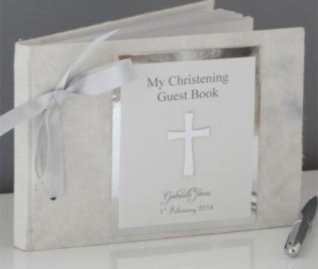 My Christening Day Personalised Guest Book Product Image