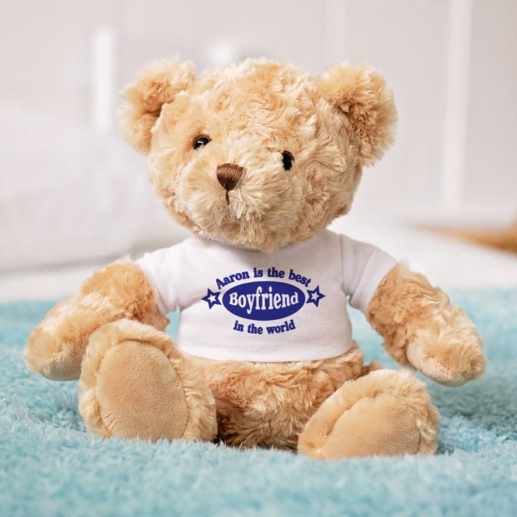 Best Boyfriend Personalised Valentines Day Teddy Bear The Gift Experience