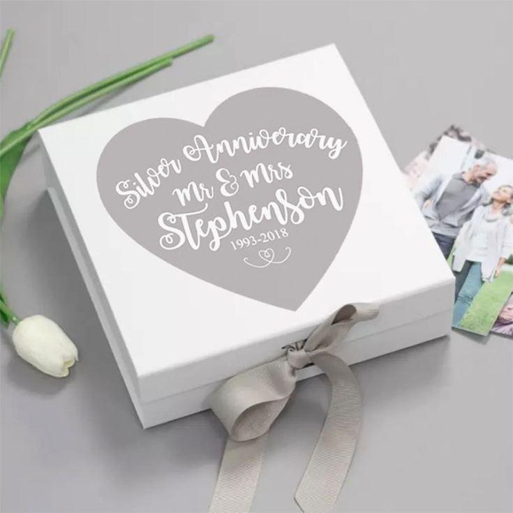 personalised silver wedding anniversary