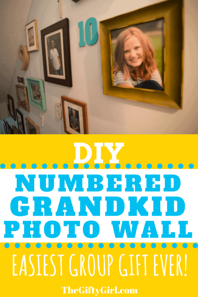 DIY Numbered grandkid photo wall
