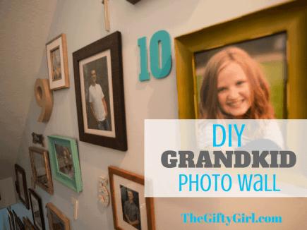 DIY Grandkid Photo Wall