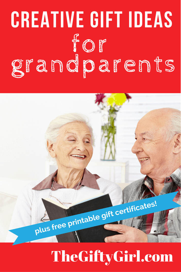 Creative Gift ideas for older parents, grandparents and seniors