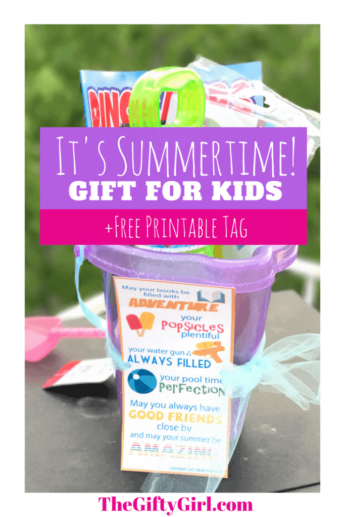 A fun gift idea for the last day of school/beginning of summer! Celebrate the fun times to come with this free printable and great kid gift idea!