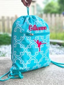 gift for teen girl drawstring dance bag gift for dancer