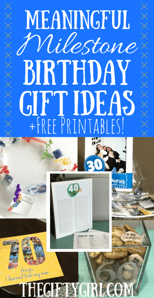 milestone birthday gift ideas