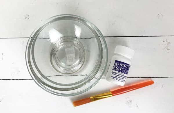diy glass etch supplies