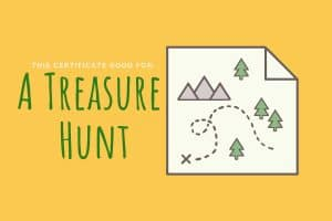 experience gift for kids treasure hunt