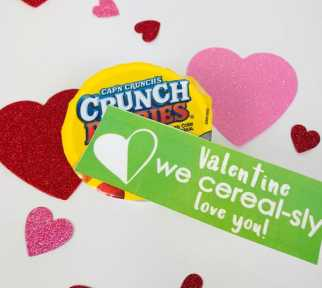 Free Printable Tag for Valentine's Cereal gift idea