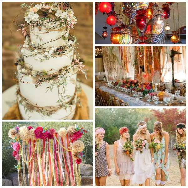The Gilded Gown - Knoxville TN - Boho Wedding Inspo Collage 1