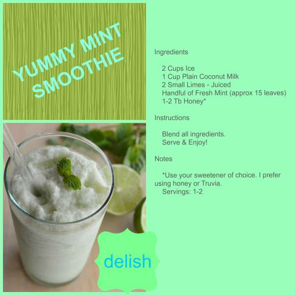 Mint Green Smoothie Collage