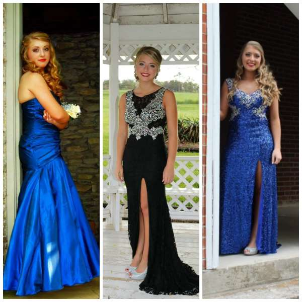 The Gilded Gown - Knoxville TN - Kira Luttrell - 3 years 3 prom dresses from Gilded Gown