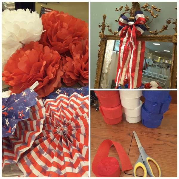 4th of July Window Display Supplies