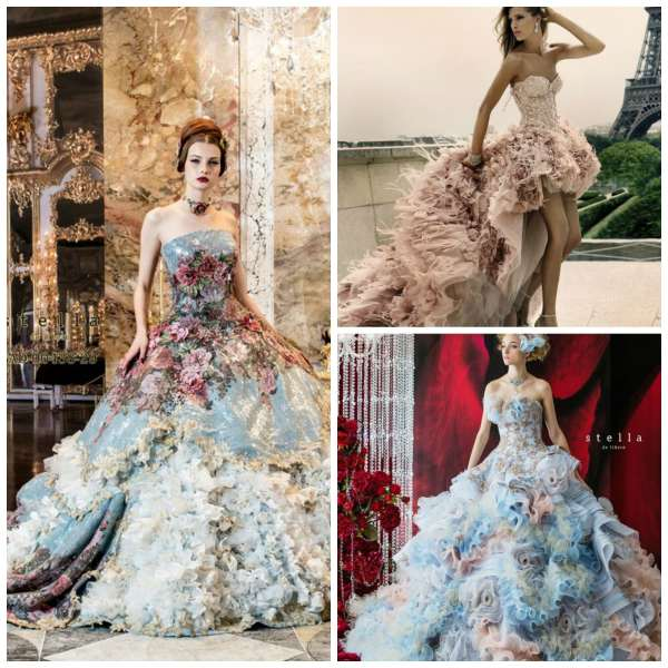extravagant dress collage 3