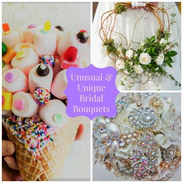 Unusual and unique bridal bouquets