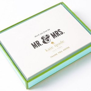 "Kate Spade New York ""Mr & Mrs"" Thank You Cards"