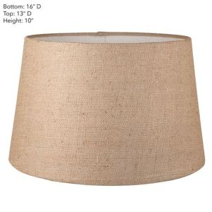 Large Drum Natural Linen Lamp Shade