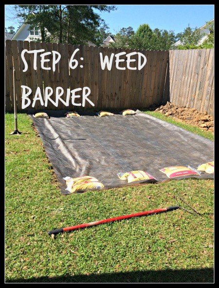 DIY Paver Patio, Step 6, Weed Barrier