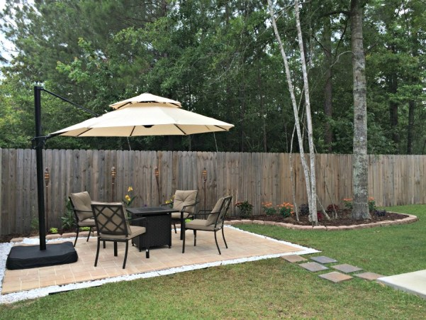 DIY paver patio, complete - DIY Paver Patio (for Normal People) - The Ginger Life