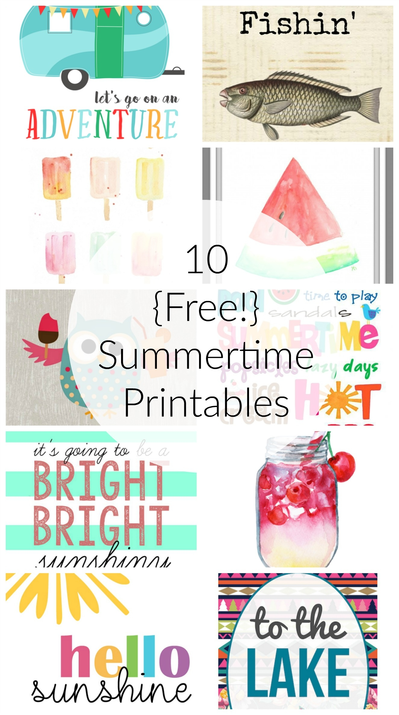 10 Free Summer Printables