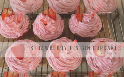 Strawberry Pin Gin Cupcake Recipe