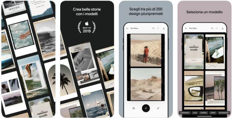 unflod app per stories
