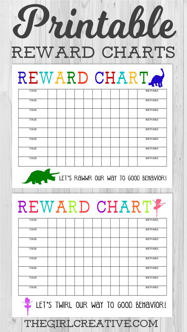 Printable Reward Chart The Girl Creative
