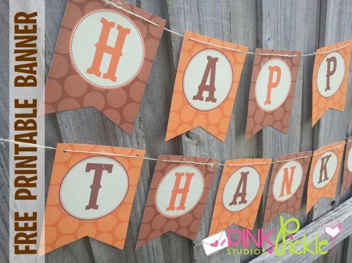 18 DIY Thanksgiving Banners The Girl Creative