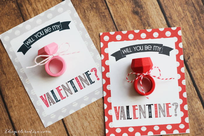 Eraser Ring Valentines The Girl Creative